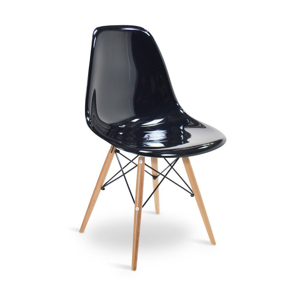 Cadeira eames dsw preta policarbonato elegancy design for Inspiration dsw de charles ray eames