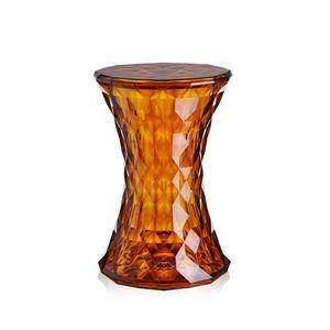 banco-banqueta-tamborete-stone-diamante-philippe-starck-kartell-acrilico-policarbonato-laranja