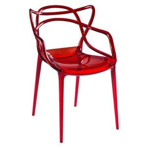 cadeira-masters-alegra-philippe-starck-kartell-policarbonato-acrilico-vermelha