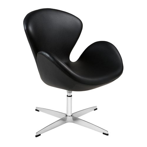 poltrona-swan-arne-jacobsen-cadeira-preta