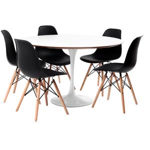 mesa-saarinen-branca-5-cadeiras-eames-preto
