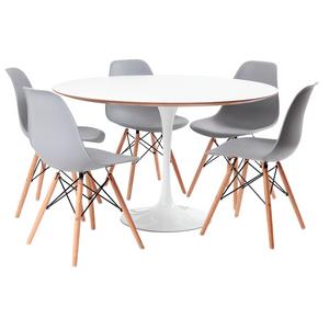 mesa-saarinen-branca-5-cadeiras-eames-cinza