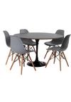 mesa-saarinen-preta-5-cadeiras-eames-cinza