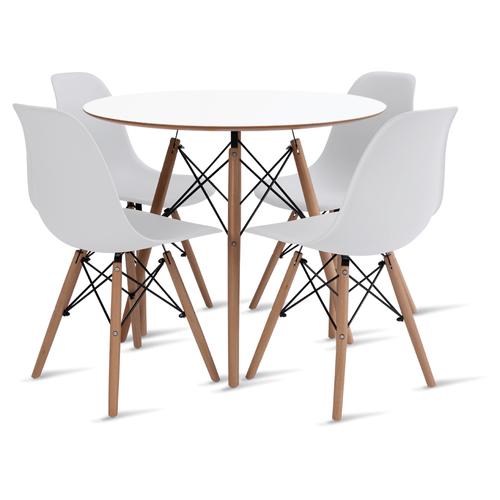 mesa-eames-90-com-4-cadeiras-eames-branca