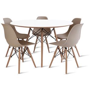 mesa-eames-120-com-5-cadeiras-eames-fendi