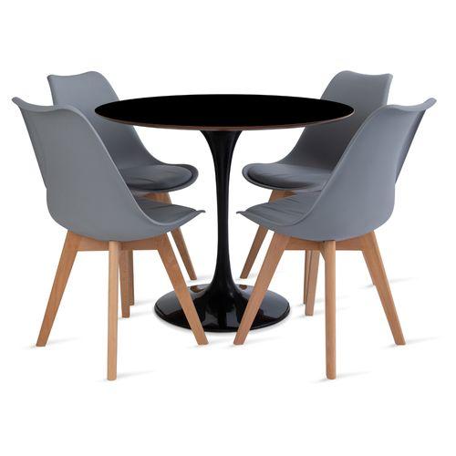 mesa_saarinen_90cm_4_cadeiras_leda_1_cinza
