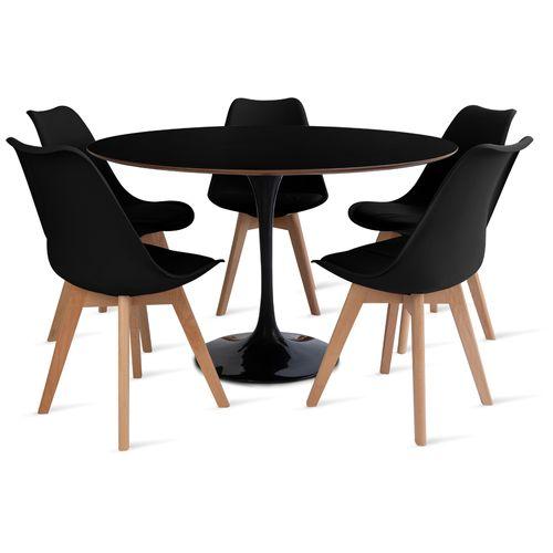 mesa_saarinen_120_5_cadeiras_leda_1_preto