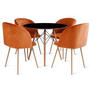 mesa_eames_90cm_4_cadeiras_milla_2_laranja