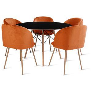 mesa_eames_120cm_5_cadeiras_milla_1_laranja