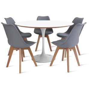 mesa-saarinen-120-com-5-cadeiras-leda-cinza