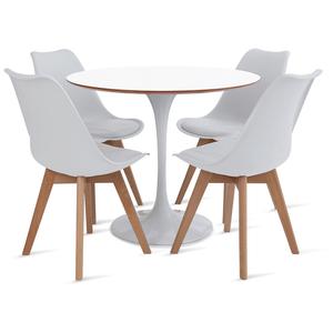 mesa-saarinen-90-com-4-cadeiras-Leda-branca