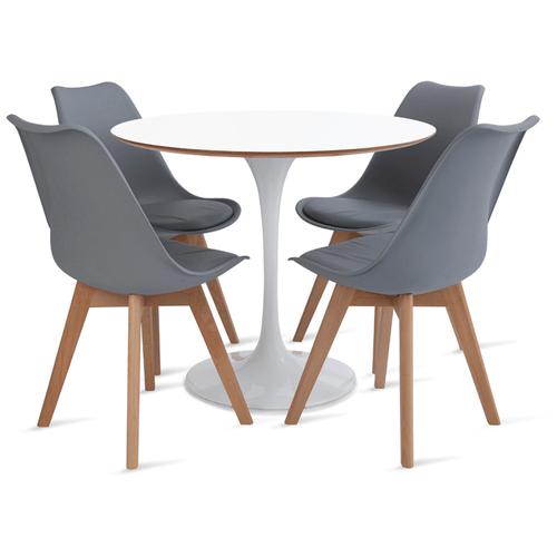 mesa-saarinen-90-com-4-cadeiras-Leda-cinza