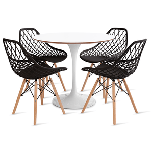 mesa-saarinen-90-com-4-cadeiras-kaila-preta
