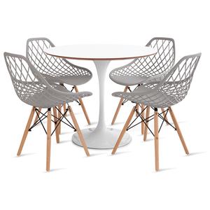 mesa-saarinen-90-com-4-cadeiras-kaila-cinza