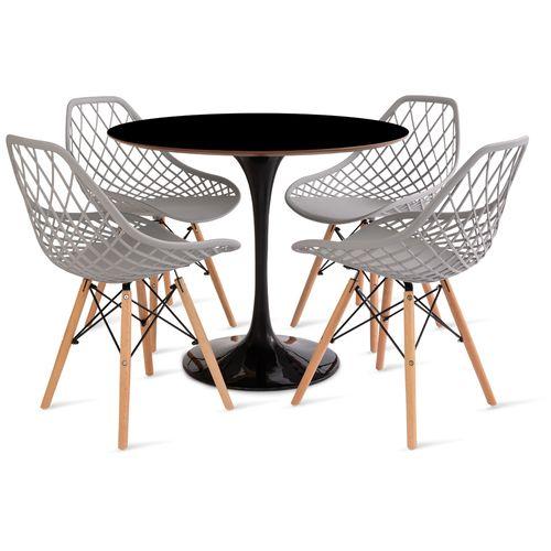 mesa_saarinen_90cm_4_cadeiras_kaila_1_cinza