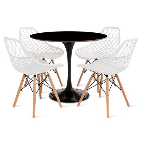 mesa_saarinen_90cm_4_cadeiras_kaila_1_branca