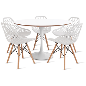 mesa-saarinen-120-com-5-cadeiras-kaila-branca