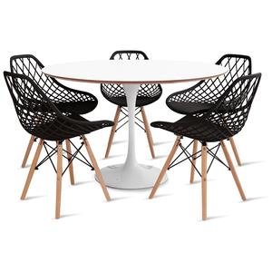 mesa-saarinen-120-com-5-cadeiras-kaila-preta