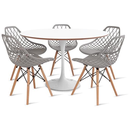 mesa-saarinen-120-com-5-cadeiras-kaila-cinza