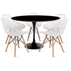 mesa_saarinen_120cm_5_cadeiras_kaila_1_branca