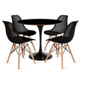 mesa_saarinen_90cm_4_cadeiras_colmeia_2_preta