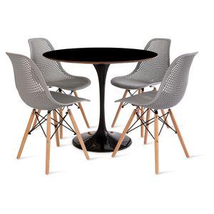 mesa_saarinen_90cm_4_cadeiras_colmeia_2_cinza
