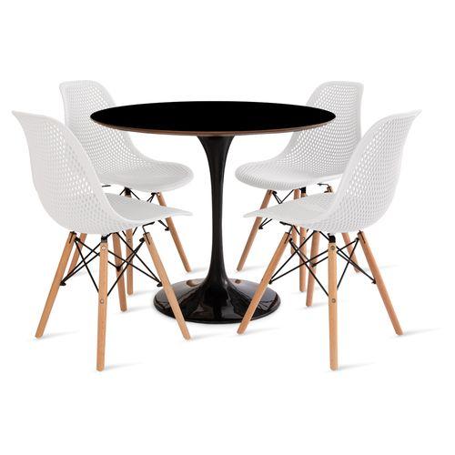 mesa_saarinen_90cm_4_cadeiras_colmeia_2_branca