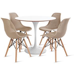 mesa-saarinen-90-com-4-cadeiras-colmeia-fendi