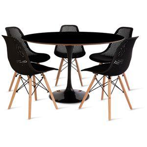 mesa_saarinen_120cm_5_cadeiras_colmeia_2_preta