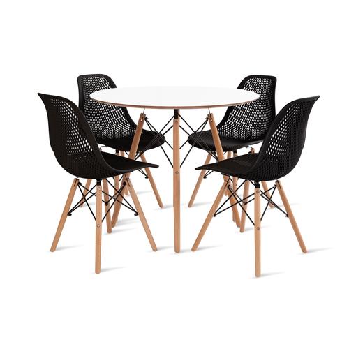 mesa-eames-90-com-4-cadeiras-colmeia-preta