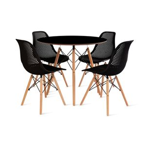 mesa_eames_90cm_4_cadeiras_colmeia_1_preta