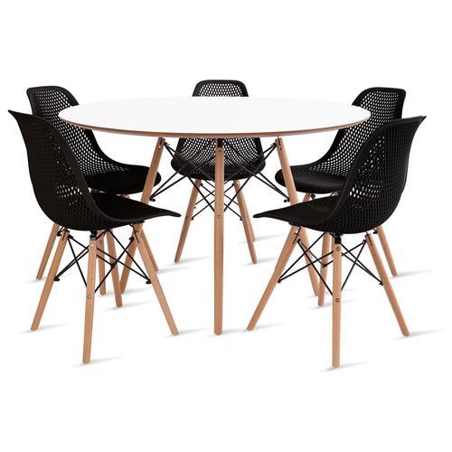 mesa-eames-120-com-5-cadeiras-colmeia-preta