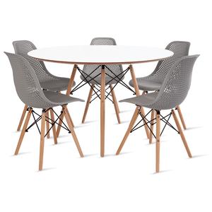mesa-eames-120-com-5-cadeiras-colmeia-cinza