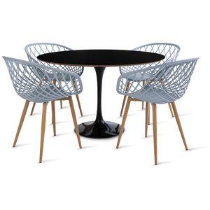 mesa_saarinen_120cm_4_cadeiras_clarisse_2_cinza