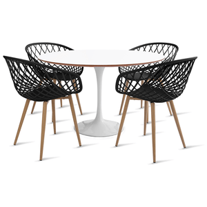 mesa-saarinen-120-com-4-cadeiras-clarice-preta