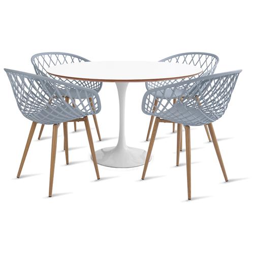 mesa-saarinen-120-com-4-cadeiras-clarice-cinza