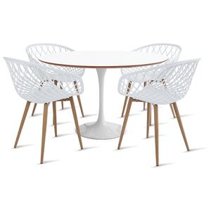 mesa-saarinen-120-com-4-cadeiras-clarice-branca