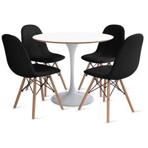 mesa-saarinen-90-com-4-cadeiras-botone-preta