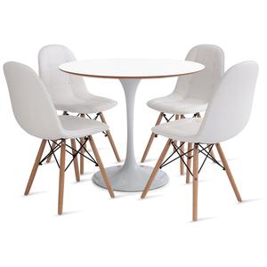 mesa-saarinen-90-com-4-cadeiras-botone-branca