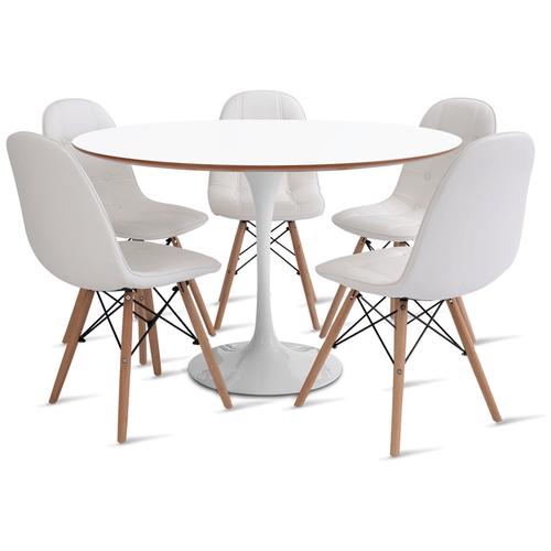 mesa-saarinen-120-com-5-cadeiras-botone-branca
