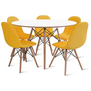 mesa-eames-120-com-5-cadeiras-botone-amarela