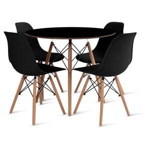 mesa_eames_90cm_4_cadeiras_eames_1_preta